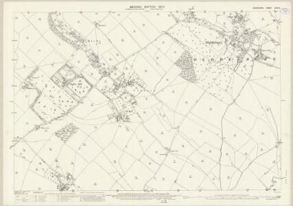 Shropshire LXIV.15 (includes: Culmington; Diddlebury) - 25 Inch Map