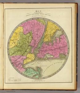 Map of the Country Twenty Five Miles Round The City Of New-York.