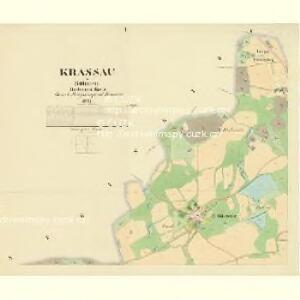 Krassau - c3511-1-001 - Kaiserpflichtexemplar der Landkarten des stabilen Katasters