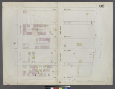Plate 82: Map bounded by East 52nd Street, East River, East 47th Street, Second Avenue