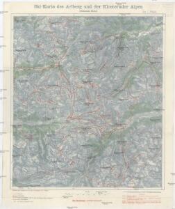 Ski-Karte des Arlberg und der Klostertaler Alpen