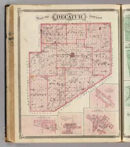 Map of Decatur County (with) St. Omer, New Point, Clarksburgh, St. Paul.