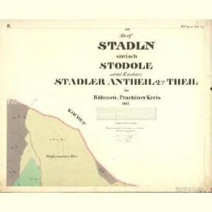 Stadln - c7347-1-002 - Kaiserpflichtexemplar der Landkarten des stabilen Katasters