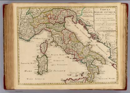 Italiae Antiquae in regiones XI ab Augusto divisae.