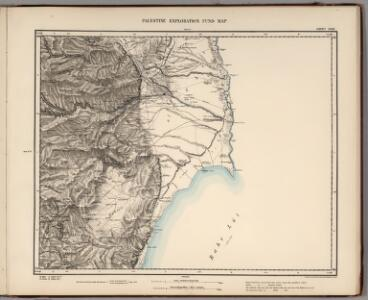 Sheet XVIII.  Palestine Exploration Map.