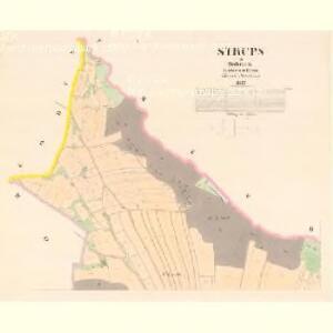 Strups - c7210-1-001 - Kaiserpflichtexemplar der Landkarten des stabilen Katasters
