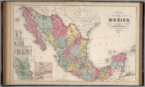 Map of the Republic of Mexico.