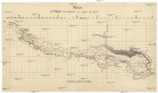 Skelett zur Übersicht der Savestrecke von Agram bis Semlin