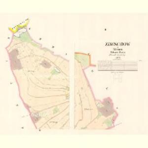 Zdeschow - c9224-1-002 - Kaiserpflichtexemplar der Landkarten des stabilen Katasters