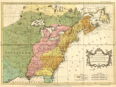 Carte des Possessions Angloises & Françoises du Continent de l'Amerique Septentrionale