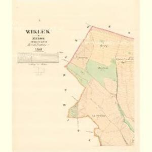 Wiklek - m3506-1-001 - Kaiserpflichtexemplar der Landkarten des stabilen Katasters