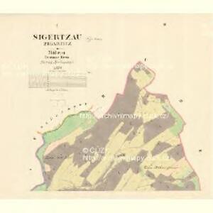 Sigertzau (Zigartitz) - m1736-2-001 - Kaiserpflichtexemplar der Landkarten des stabilen Katasters