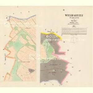 Welhartitz (Welhartice) - c8371-1-001 - Kaiserpflichtexemplar der Landkarten des stabilen Katasters