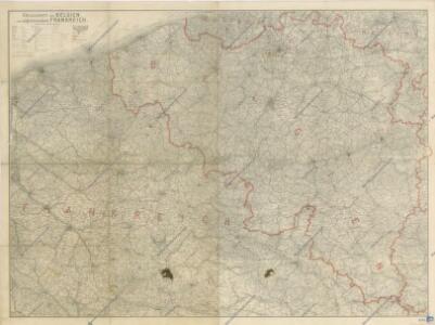 Kriegskarte von Belgien und angrenzendem Frankreich
