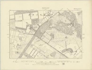Suffolk XII.NW - OS Six-Inch Map