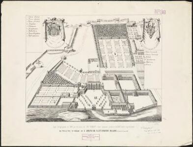 La vue a vol d'oiseau de l'Abbaye de Saint-Martin de Laon (de l'Ordre de Prémontré)