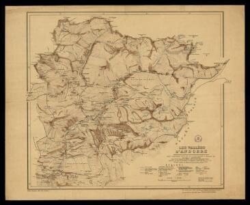 Les vallées d'Andorre / carte entièrement levée sur le terrain, dressée et dessinée par Mr. Marcel Chevalier