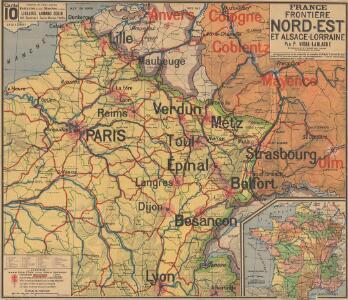 France frontiére Nord-Est et alsace-lorraine