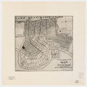 Map of the city of New Orleans : showing proposed water distribution system