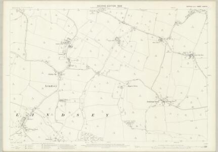 Suffolk LXXIII.8 (includes: Kersey; Lindsey; Monks Eleigh; Semer) - 25 Inch Map