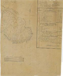Záměrná mapa-brouillon-pozemků v jílovickém polesí