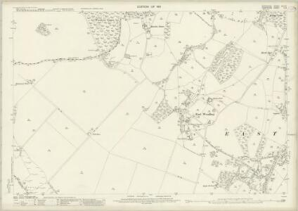 Berkshire XLII.14 (includes: Combe; East Woodhay; West Woodhay) - 25 Inch Map