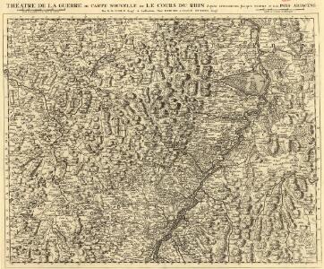 Théatre de la Guerre ou Carte Nouvelle De le Cours du Rhin depuis Strasbourg jusqu'a Worms et Les Pays Adjacens