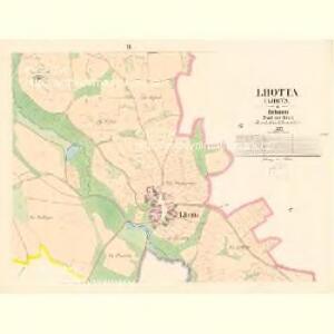 Lhotta (Lhota) - c7452-1-003 - Kaiserpflichtexemplar der Landkarten des stabilen Katasters