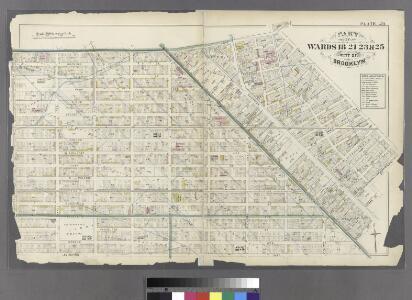 Plate 29: Bounded by Flushing Avenue, Central Avenue, Himrod Street, Evergreen Avenue, Harman Street, Bushwick Street, Greene Street, Broadway, Lexington Avenue and Nostrand Avenue.