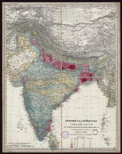 Density of the population in Peninsular India