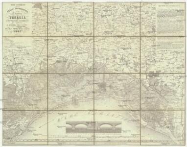 Nono congresso carta topografica della laguna di Venezia e del territorio conterminante fino a 37 chilometri di distanza dalla cittá con cenni descrittivi del gran ponte sulla laguna