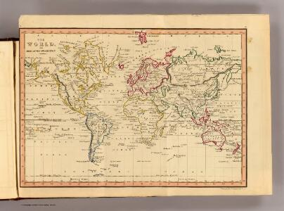 The World, Mercator's projection.