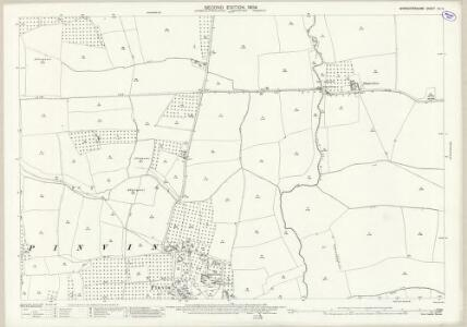 Worcestershire XLI.4 (includes: Hill and Moor; Peopleton; Pinvin; Throckmorton) - 25 Inch Map
