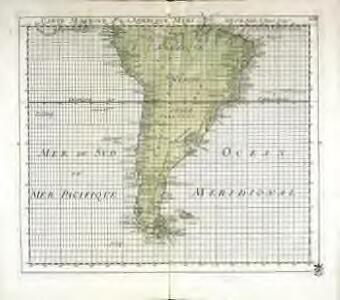 Carte marine de l'Amerique meridionale