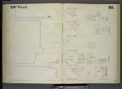 [Plate 95: Map bounded by West 37th Street, Tenth Avenue, West 32nd Street, Eleventh Avenue.]