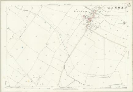 Huntingdonshire XVII.5 (includes: Barham and Woolley; Leighton; Spaldwick) - 25 Inch Map