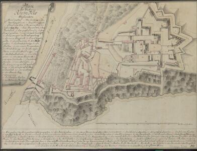 Plan der Vestung Rhein-Fels