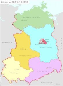 Länder der DDR 3.10.1990