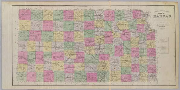 Official topographical map of Kansas.