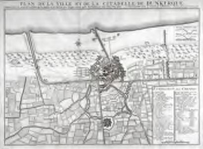 Plan de la ville et la citadelle de Dunkerque