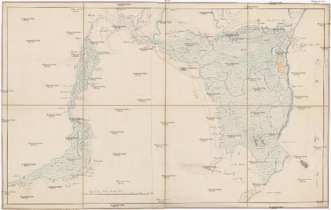 Carte dessigneé du delta du Danube