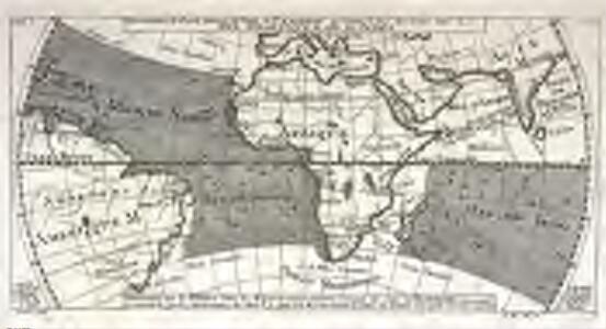 Réprésentation du cours ordinaire des vents de traverse qui regnent le long des côtes dans la mer Atlantique [et] celle des Indes