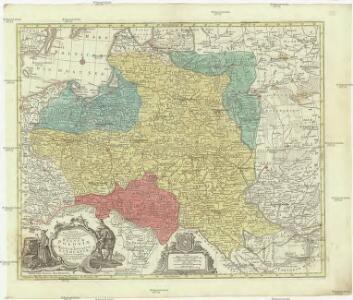 Mappa geographica Regnum Poloniae ex novissimis observationibus repraesentans Regnum Poloniae et Magnum ducatum Lithuniae