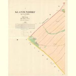Klantendorf (Kuganow) - m1417-1-001 - Kaiserpflichtexemplar der Landkarten des stabilen Katasters
