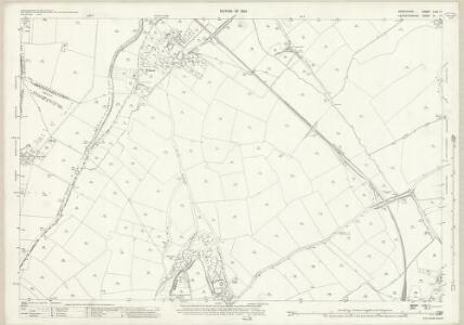 Derbyshire LVIII.11 (includes: Breedon on the Hill; Isley cum Langley; Melbourne) - 25 Inch Map