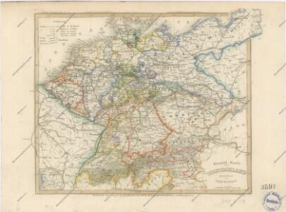 General Karte von Deutschland