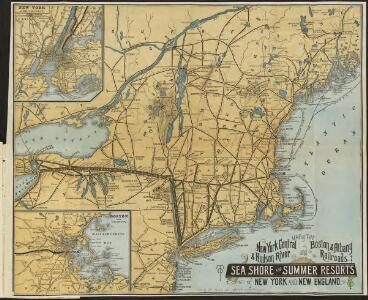 Map of the New York Central & Hudson River and Boston & Albany Railroads