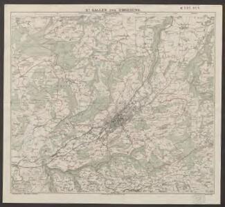Exkursionskarte für St. Gallen und Umgebung