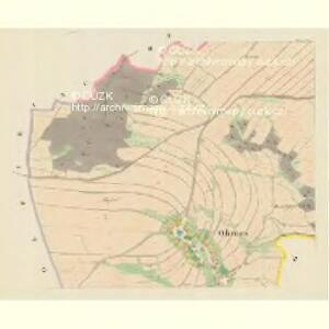 Ohrnes (Jaborny) - m1056-1-002 - Kaiserpflichtexemplar der Landkarten des stabilen Katasters