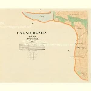 Unt. Slowenitz - c1389-1-005 - Kaiserpflichtexemplar der Landkarten des stabilen Katasters